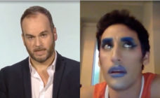 Brendan O'Neill (L) and Amrou Al-Kadhi traded barbs over the trans movement on SkyNews. (Screen capture via Twitter)