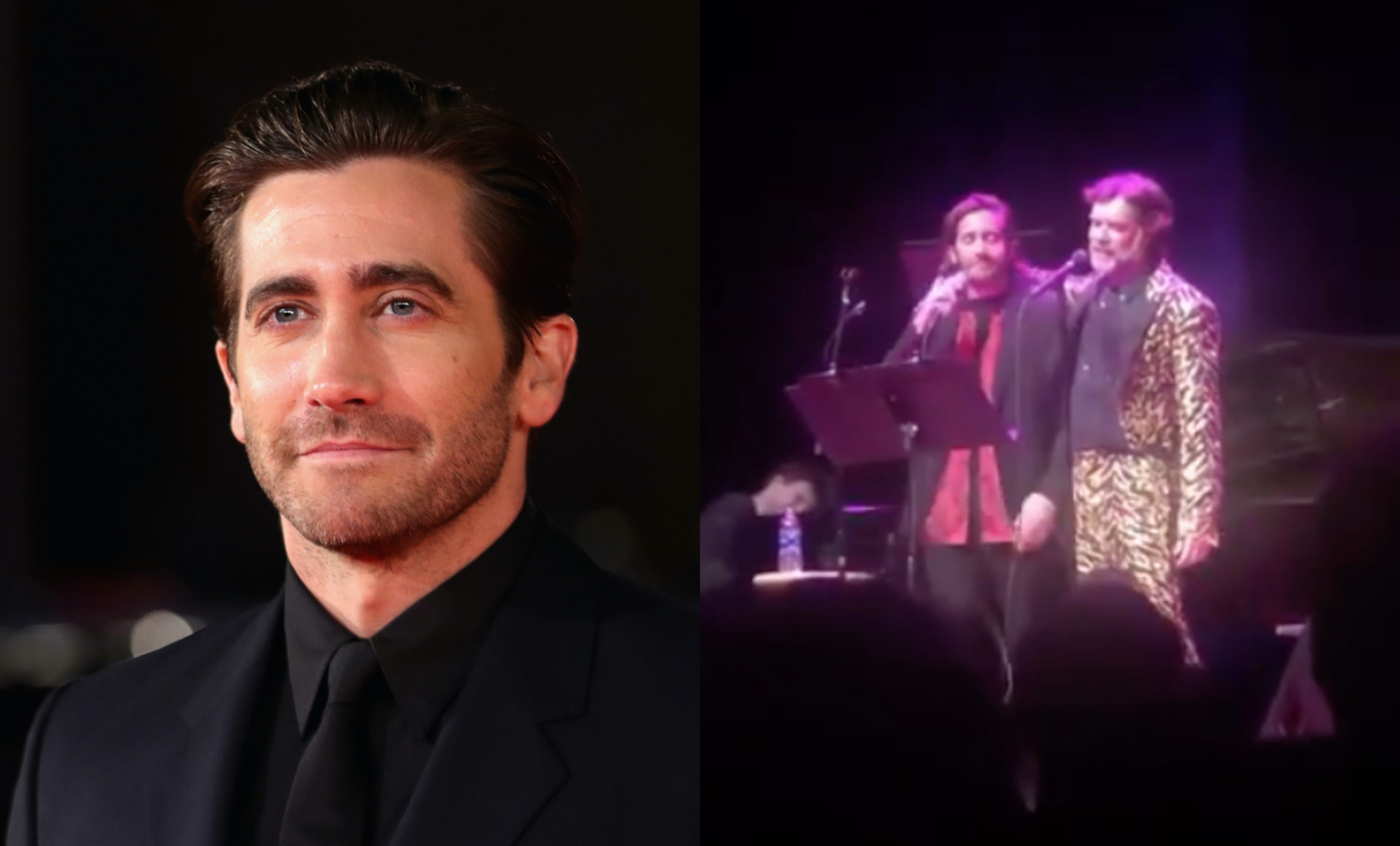 Jake Gyllenhaal and Rufus Wainwright sang The Everly Brothers and it caused nationwide swooning. (Vittorio Zunino Celotto/Getty Images/Screen capture via Twitter)