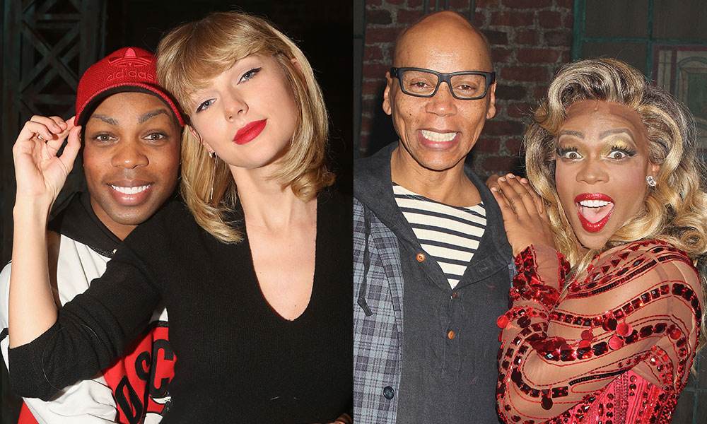 Todrick Hall with Taylor Swift and RuPaul