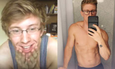 Tyler Oakley 10 years ago and now.