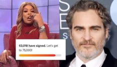Wendy William's (L) comments about actor Joaquin Phoenix caused outage. (Screen capture via The Wendy Williams Show/Taylor Hill/Getty Images)