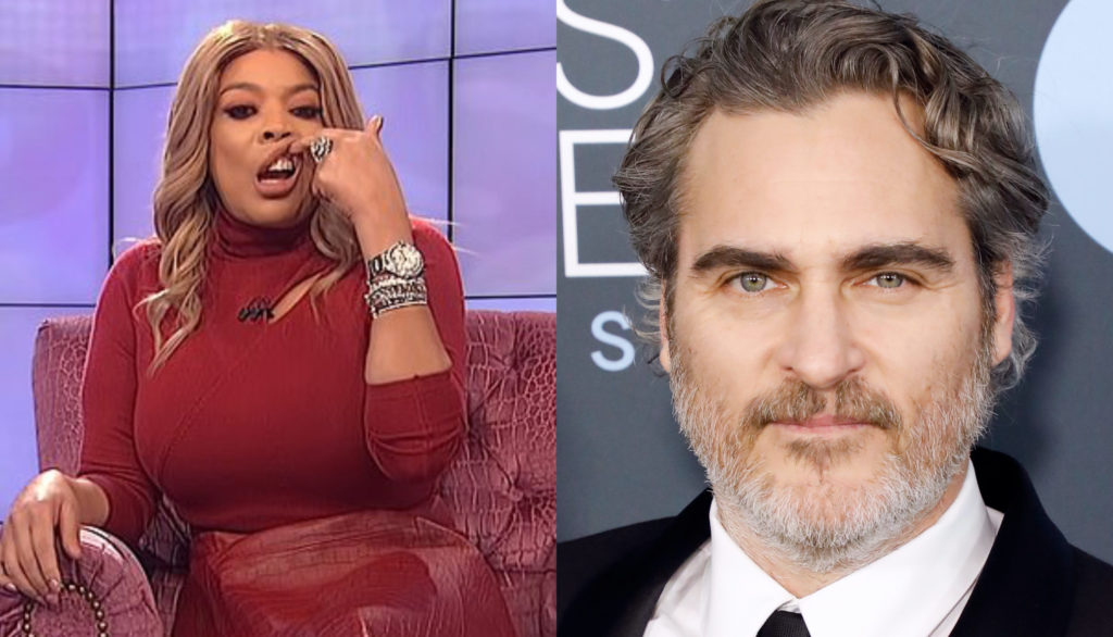 Wendy William's (L) comments about actor Joaquin Phoenix have caused outage. (Screen capture via The Wendy Williams Show/Taylor Hill/Getty Images)