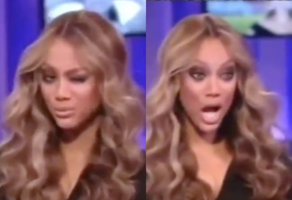 Tyra Banks went all Crayoncé during a chat with Beyoncé in 2008. (Screen captures via Twitter)