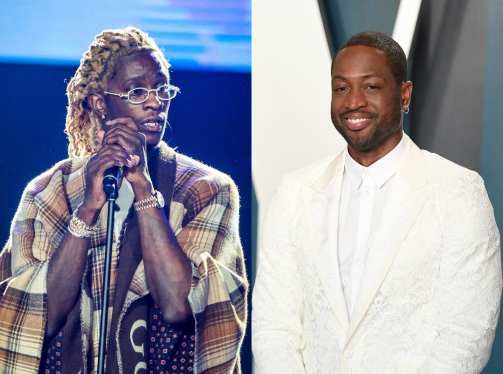 Rapper Young Thug (L) roiled Twitter users after deliberately misgendering Dwyane Wade's daughter. (Joseph Okpako/WireImage/ Karwai Tang/Getty Images)