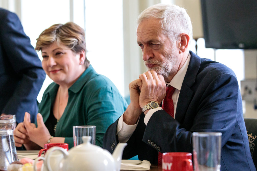 British Labour Party Leader Jeremy Corbyn and Shadow Foreign Secretary Emily Thornberry. (Jack Taylor/Getty Images)