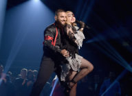 Maluma and Madonna perform onstage during the 2019 Billboard Music Awards. (John Shearer/Getty Images for dcp)