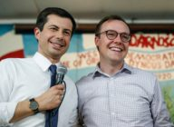 Chasten Buttigieg with husband and presidential hopeful Pete Buttigieg