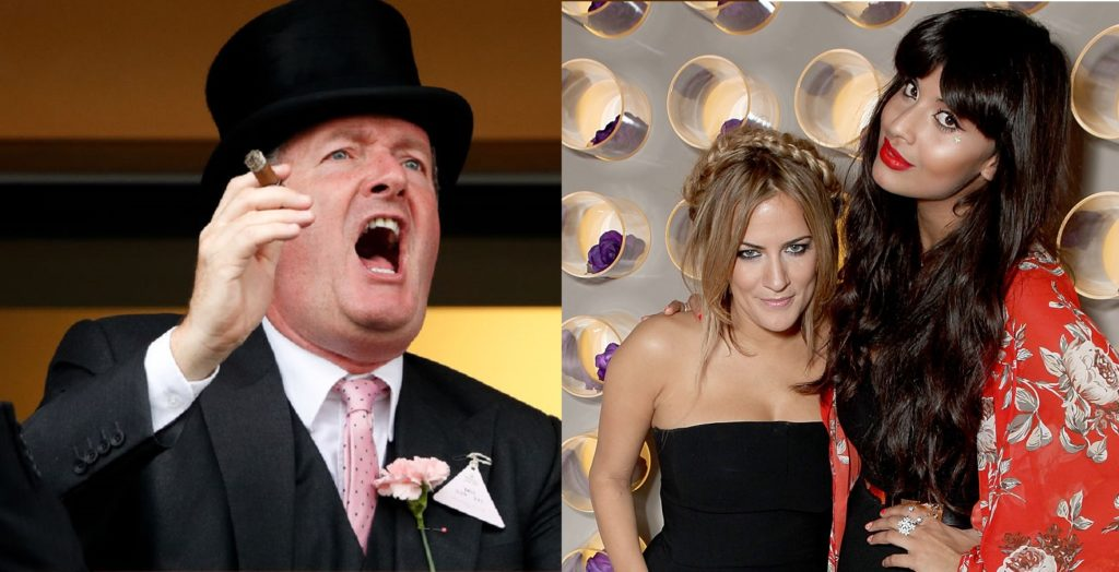 Piers Morgan published messages from Caroline Flack in an attack on the late TV star's friend Jameela Jamil