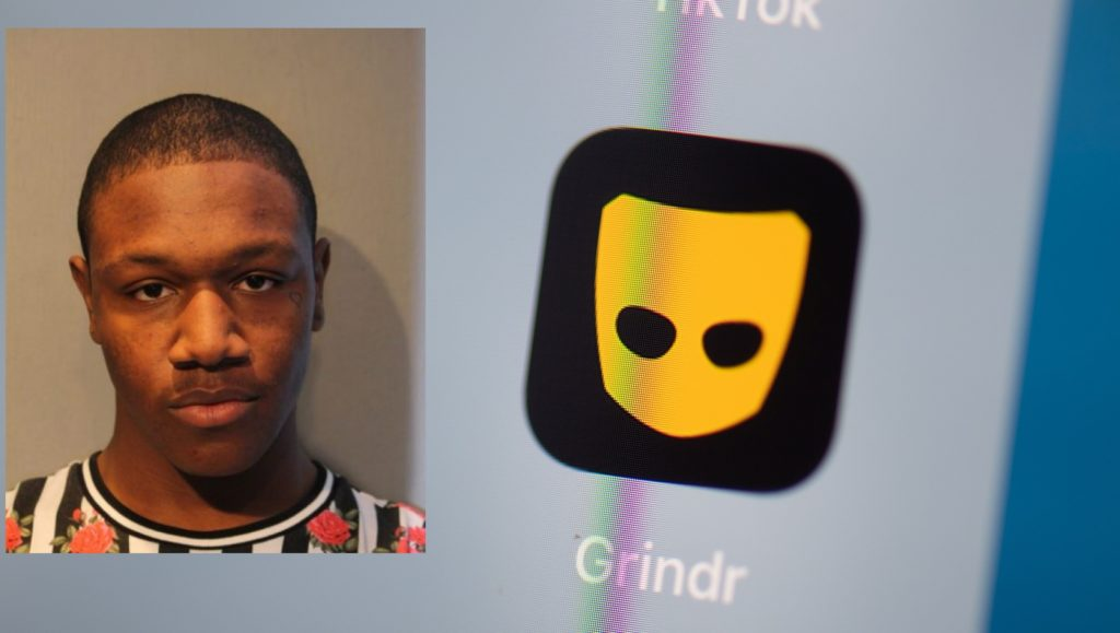 Davion Johnson, 20,, has been arrested over the Grindr robberies