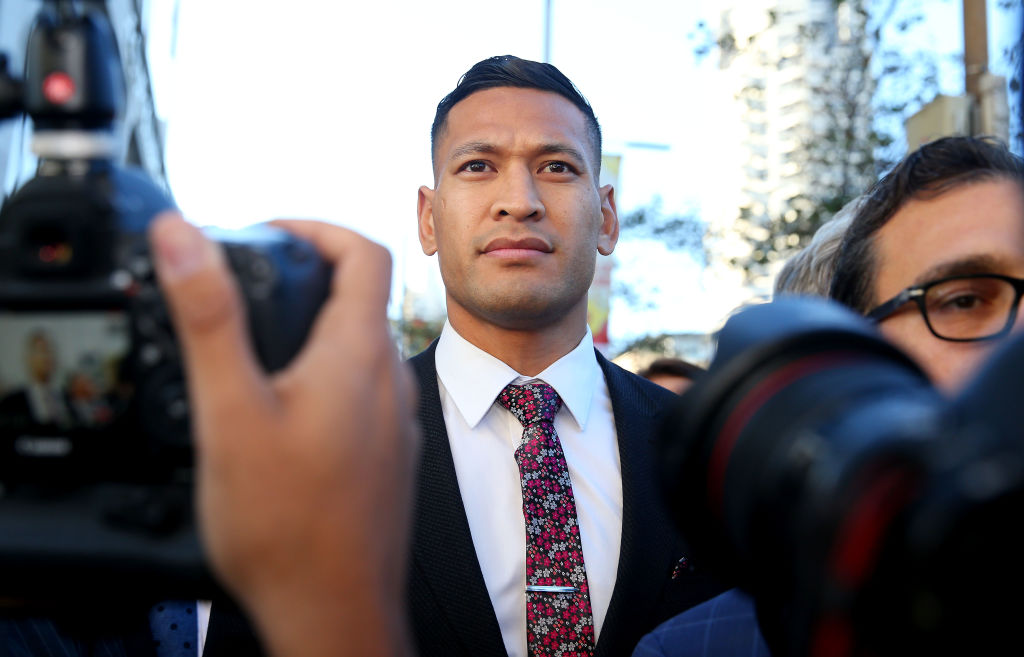 Disgraced rugby player Israel Folau