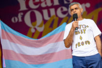 Mayor of London Sadiq Khan on stage during Pride in London 2019