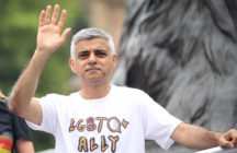 Mayor of London Sadiq Khan waves during Pride in London 2019