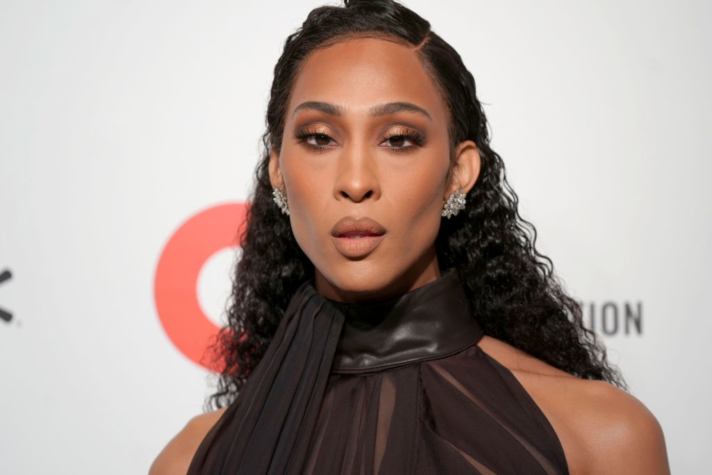 Pose star MJ Rodriguez attends the 28th Annual Elton John AIDS Foundation Academy Awards Viewing Party
