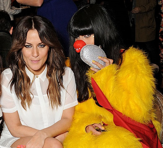 Caroline Flack and Jameela Jamil in 2013