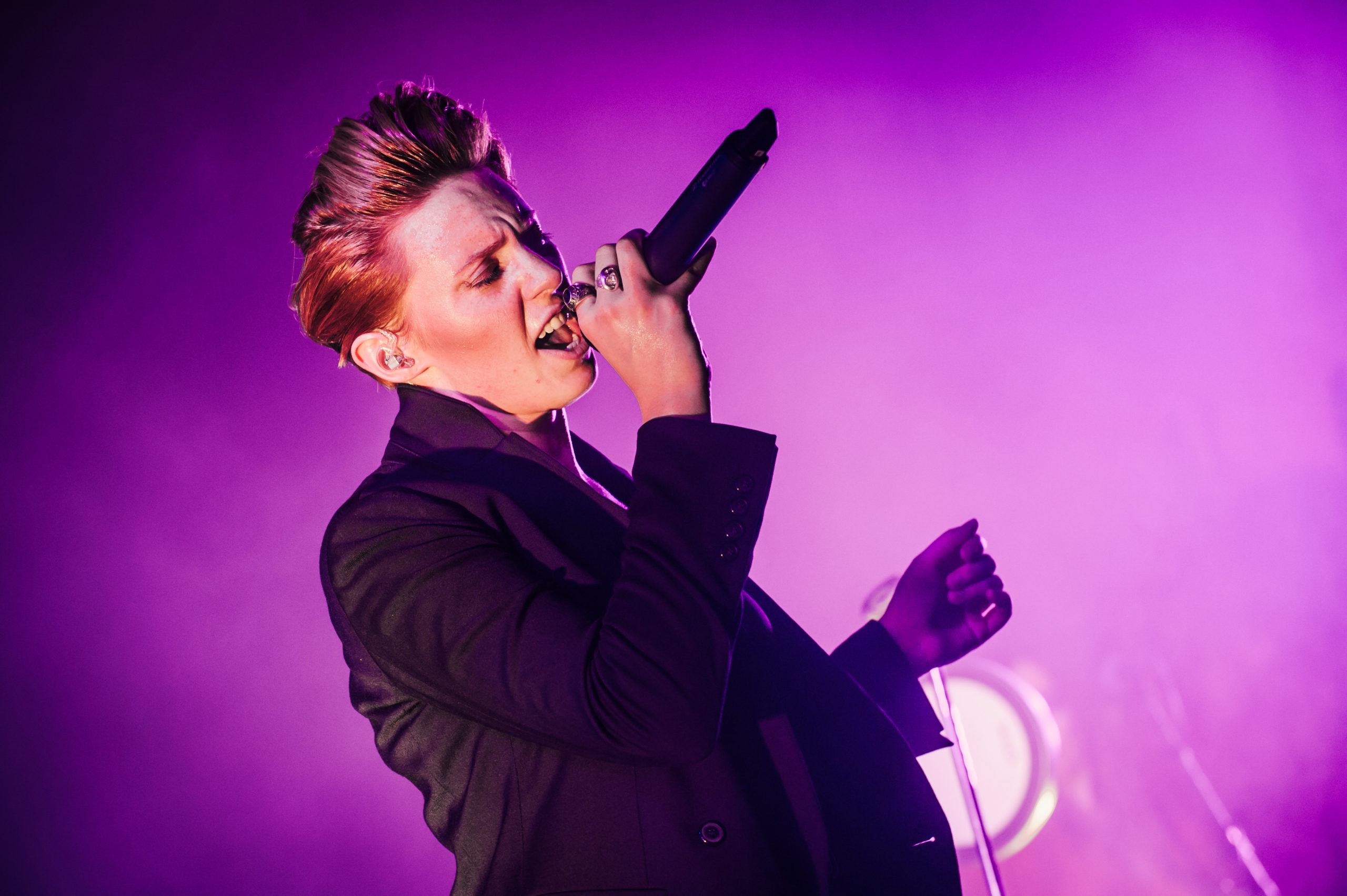 Singer Elly Jackson of La Roux performs live on stage during Melt! Festival in 2015