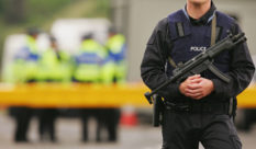 An armed Scotland Police officer. (Scott Barbour/Getty Images)