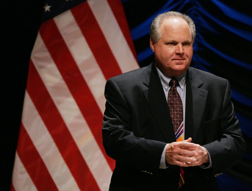 Radio personality Rush Limbaugh