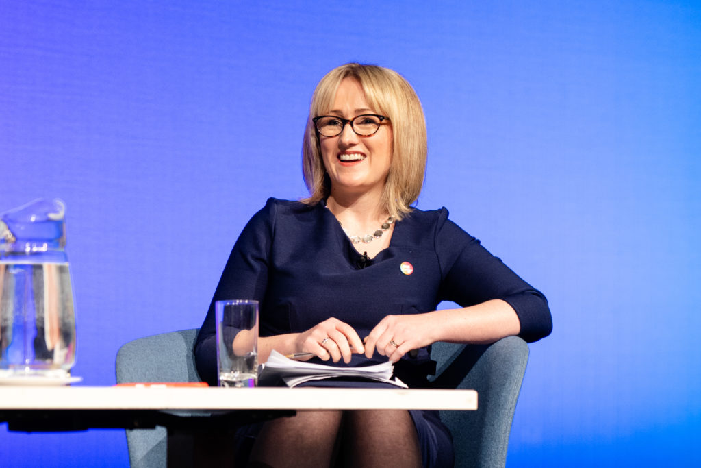 Rebecca Long-Bailey speaks at the LGBT+ Labour leadership hustings. (Martin Hobby)