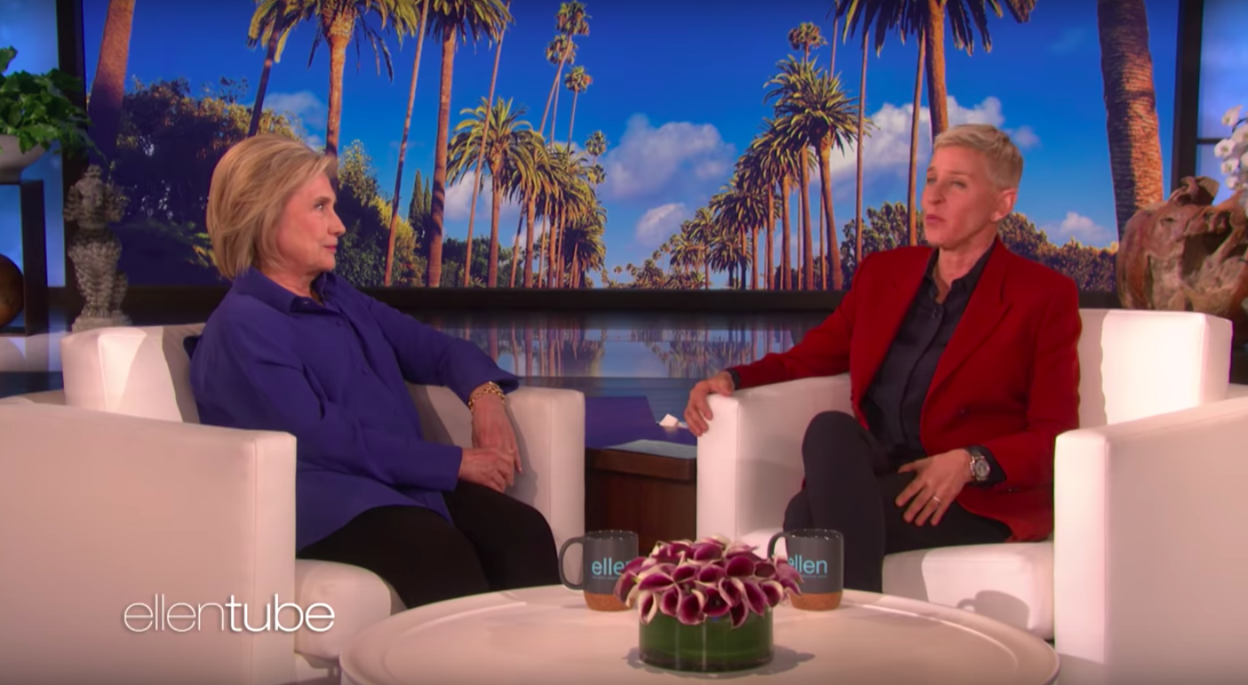 Hillary Clinton shares her searingly obvious plan to get rid of Donald Trump with Ellen Degeneres