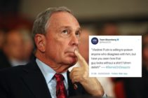"""Michael Bloomberg is in hot water over his campaign team's parody tweet tactic deemed """"homophobic"""" by some Twitter users. (Oli Scarff/Getty Images)"""
