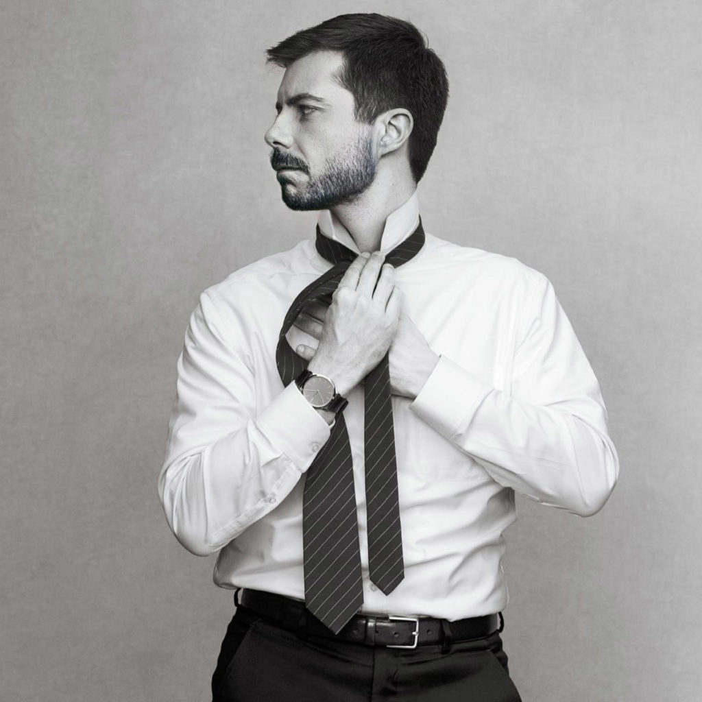 Pete Buttigieg, with a beard