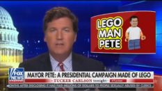 Tucker Carlson, Fox News host, attempted to upbraid Democratic presidential candidate Pete Buttigieg in a bizarre rant. (Screen capture via Media Matters)