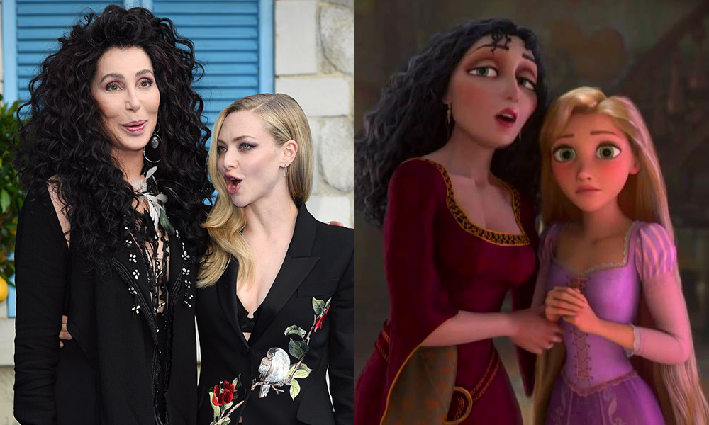 Cher and Amanda Seyfried / Rapunzel and Mother Gothel