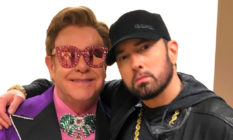 Eminem and Elton John at the Oscars