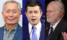 George Takei, Pete Buttigieg, Rush Limbaugh