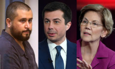 George Zimmerman, Pete Buttigieg and Elizabeth Warren.