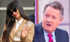 Jameela Jamil and Piers Morgan