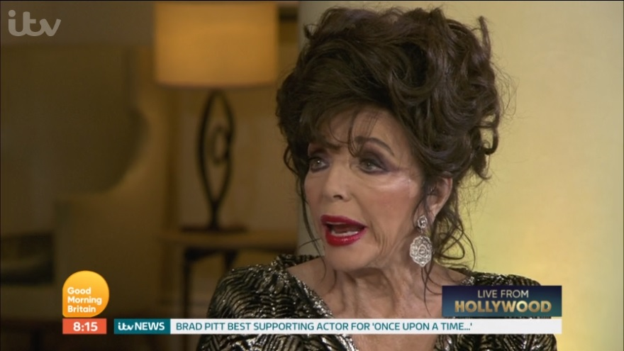 Joan Collins spoke out on Good Morning Britain
