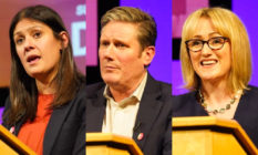 Lisa Nandy, Kier Starmer and Rebecca Long-Bailey