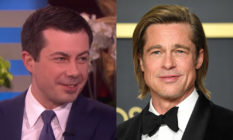 Pete Buttigieg and Brad Pitt