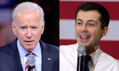 Joe Biden and Pete Buttigieg