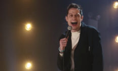 Pete Davidson laughing during his Netflix special