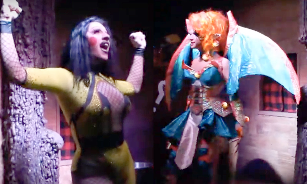 Drag queens dressed as Pikachu and Charmander