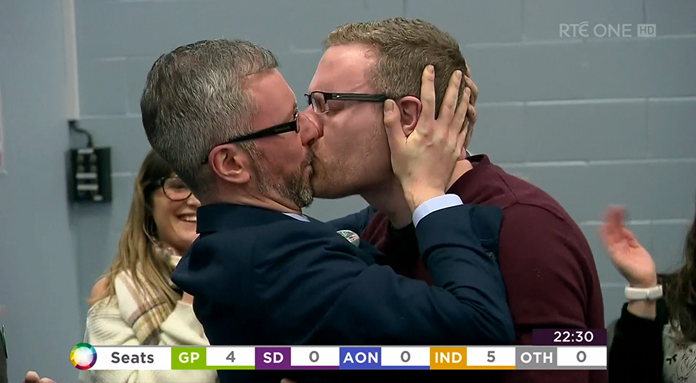 Green Party Roderic O'Gorman kiss