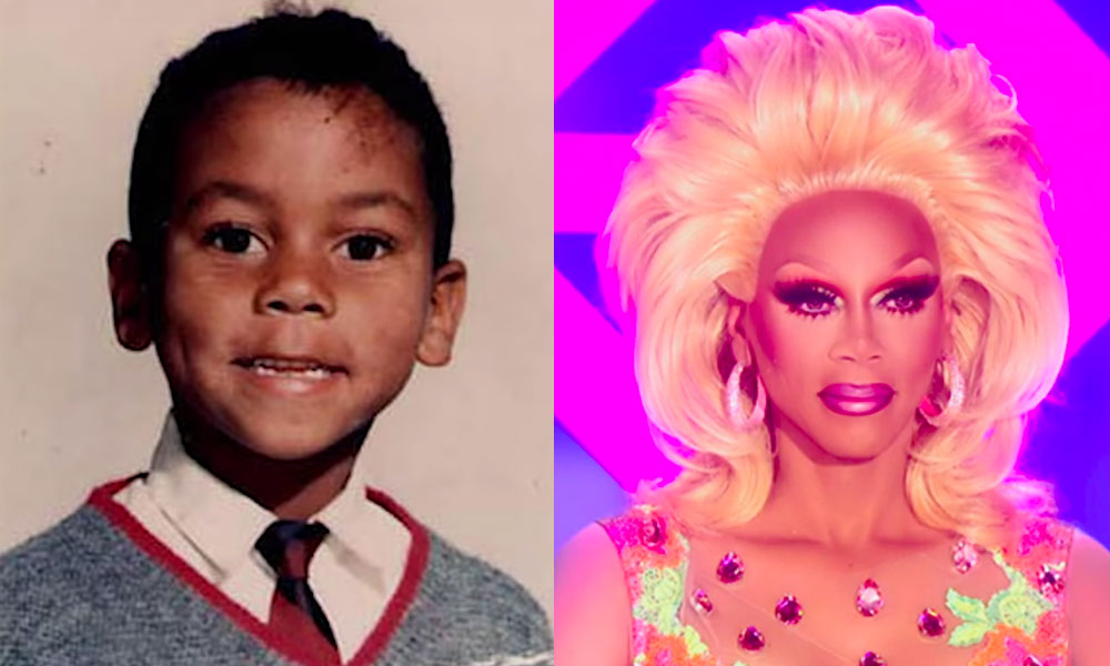 RuPaul as a young boy, and appearing on Drag Race