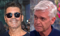 Simon Cowell and Phillip Schofield