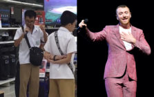 Blind schoolboy stuns shoppers with karaoke version of Sam Smith