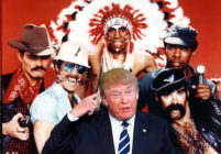Donald Trump inexplicably entered the arena to the Village People