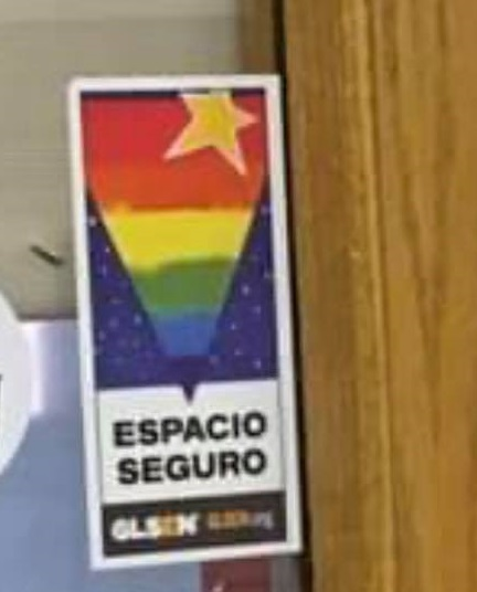 The lawmaker is very upset about this rainbow sticker