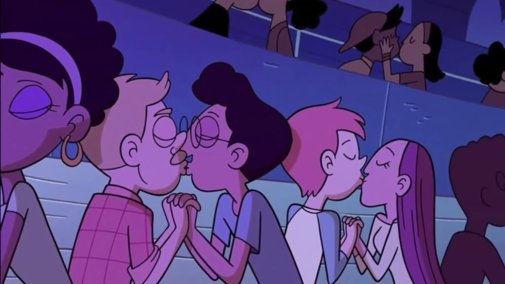 Disney XD cartoon Star vs. the Forces of Evil featured a subtle gay kiss