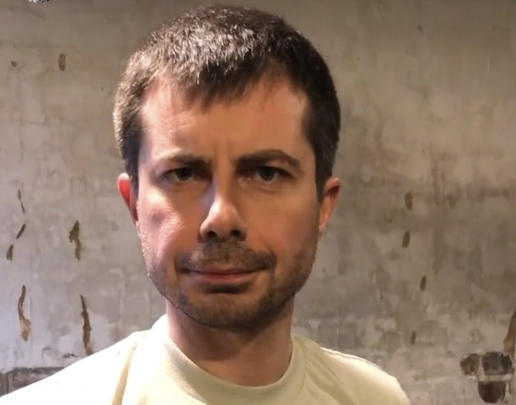 Pete Buttigieg is growing a beard and we almost forgot about the coronavirus pandemic for a bit. (Screen capture via Instagram)