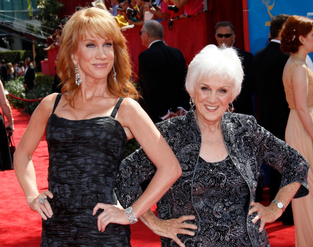 Actress Kathy Griffin (L) and mother Maggie Griffin. (Dan MacMedan/WireImage)