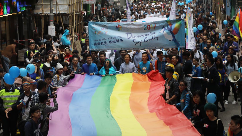 Hong Kong, strained by anti-LGBT policies, saw leap towards progress after courts ruled gay couples should have access to public housing programmes. (Edward Wong/South China Morning Post via Getty Images)