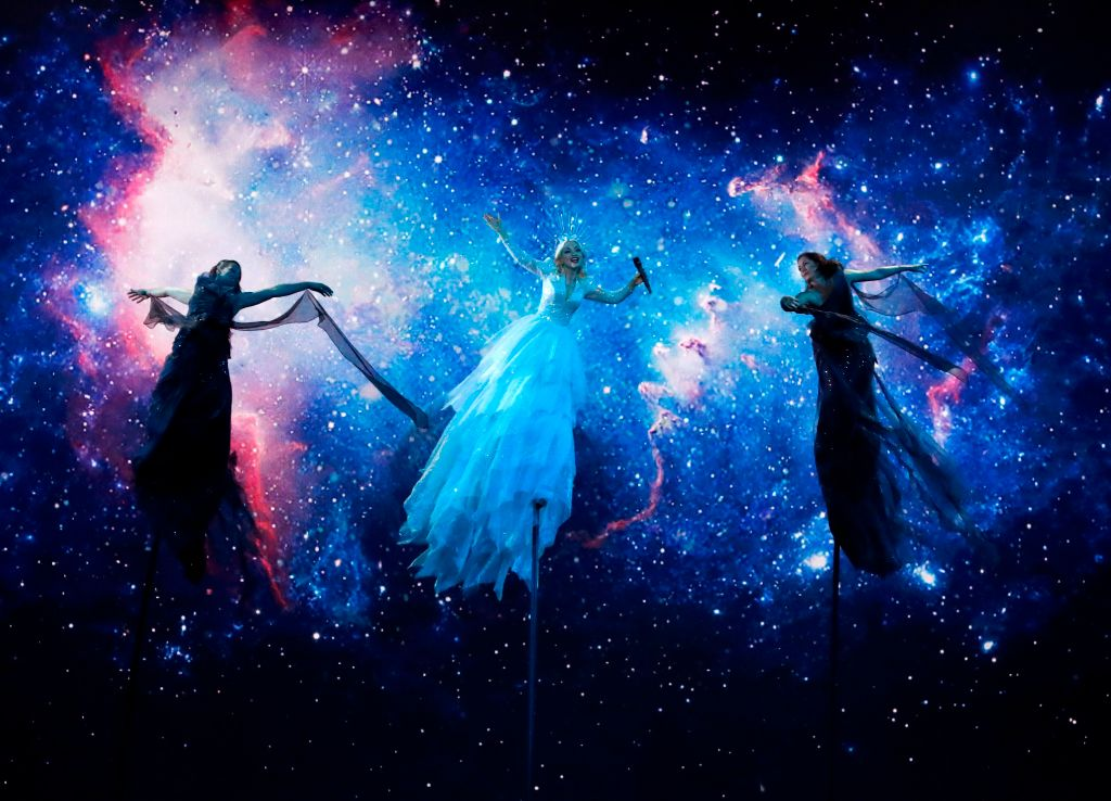 Australia's Kate Miller-Heidke performs the song 'Zero Gravity' during the Grand Final of the 64th edition of the Eurovision Song Contest
