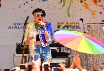Lady Gaga gives speech at Pride Live's 2019 Stonewall Day on June 28, 2019 in New York City.