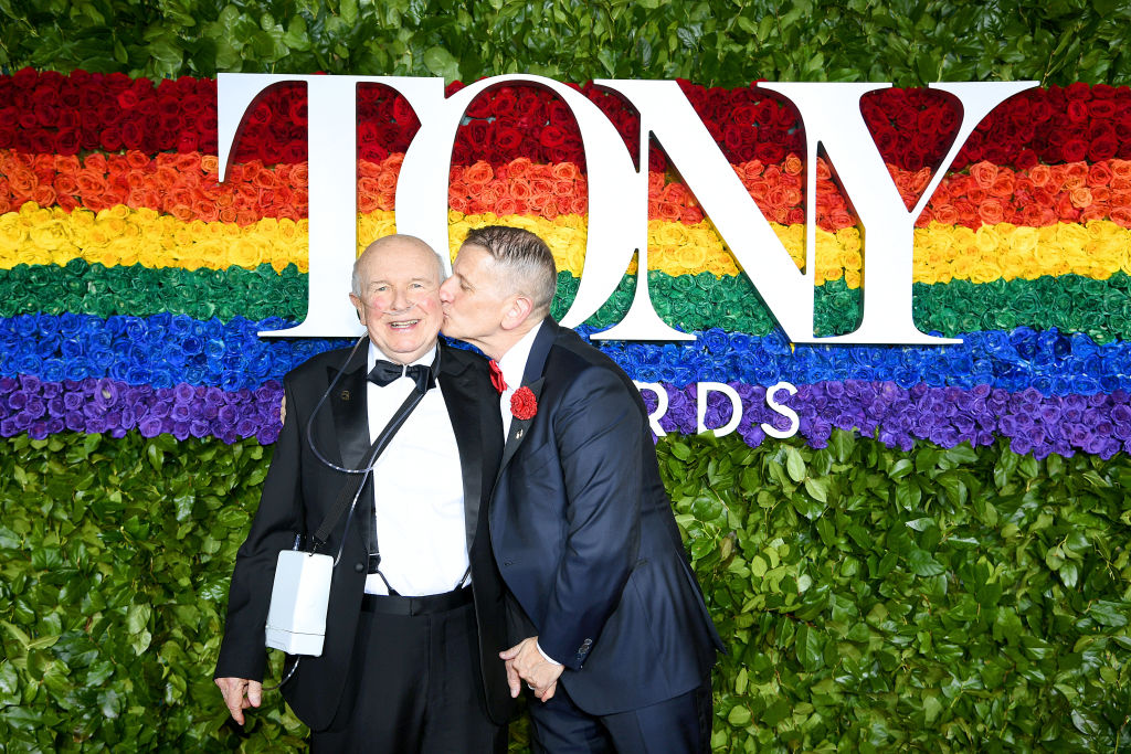 Terrence McNally and Tom Kirdahy attend the 73rd Annual Tony Awards at Radio City Music Hall on June 09, 2019 in New York City.